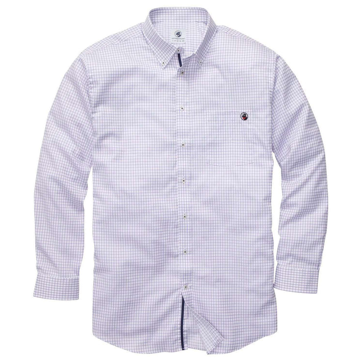 Southern Proper - The Goal Line Shirt - Purple Tattersall