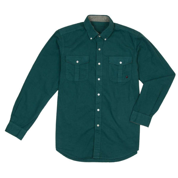 Southern Proper - Henning Field Shirt - Forest Green
