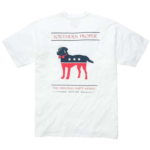 Southern Proper - Party Animal Tee: White