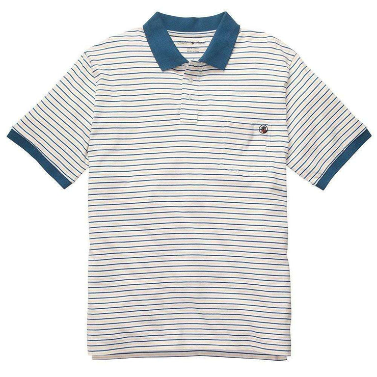 Southern Proper - Pocket Polo - Yellow/Blue Stripe