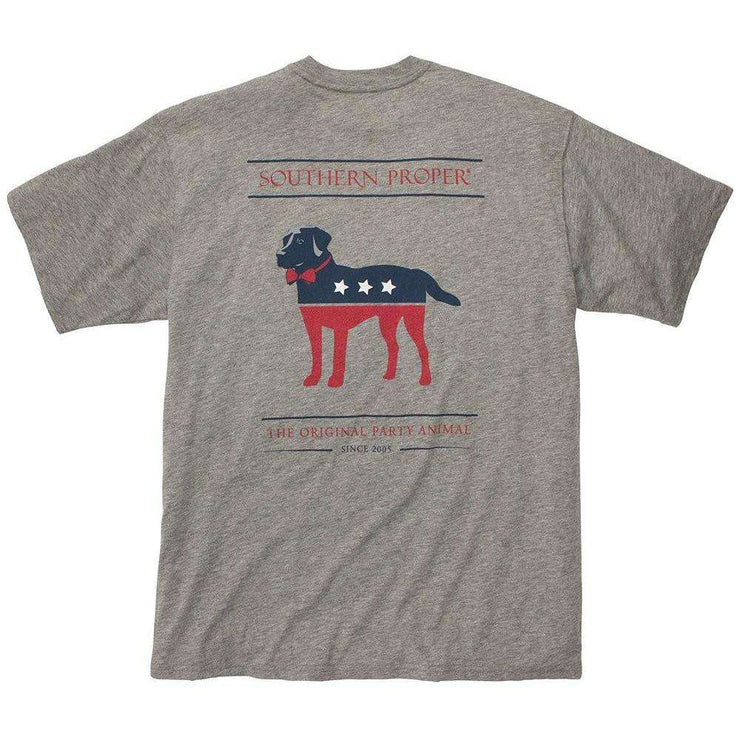 Southern Proper - Party Animal Tee: Grey