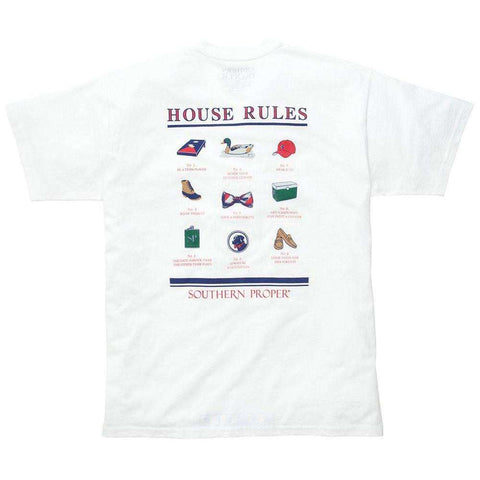 Southern Proper - House Rules Tee - White