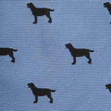 Southern Proper - Woven Black Lab Gent - Blue