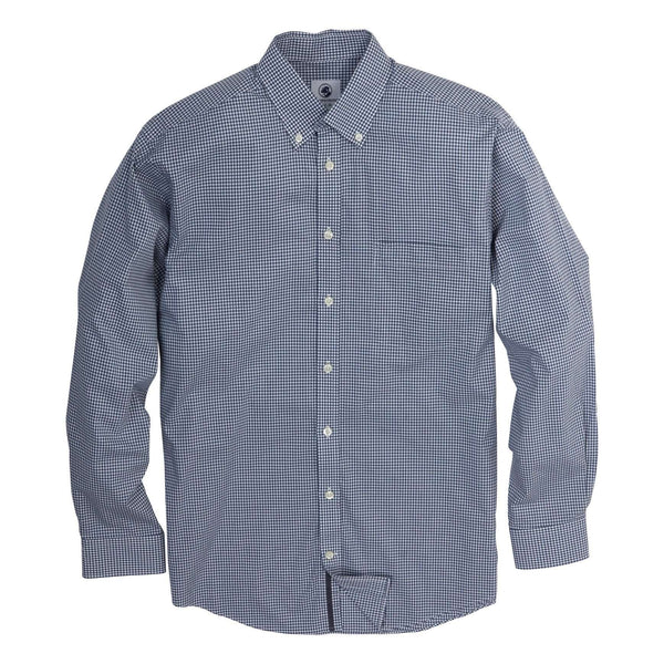 Southern Proper - Goal Line Shirt: Surf Micro Gingham