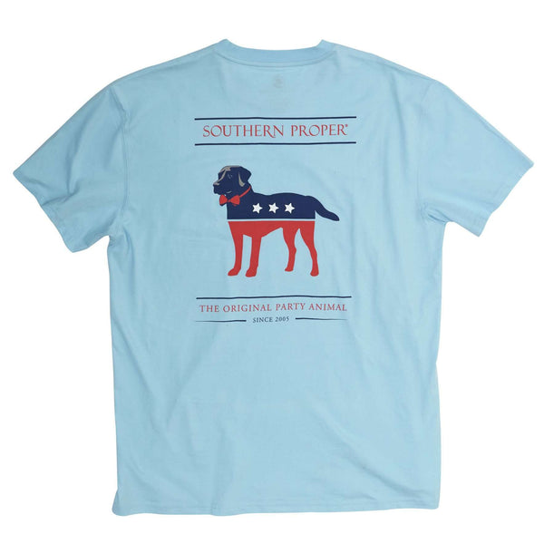 Southern Proper - Party Animal Tee: Pool