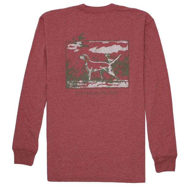 Southern Proper - Sporting Life Tee: Heather Barn Red