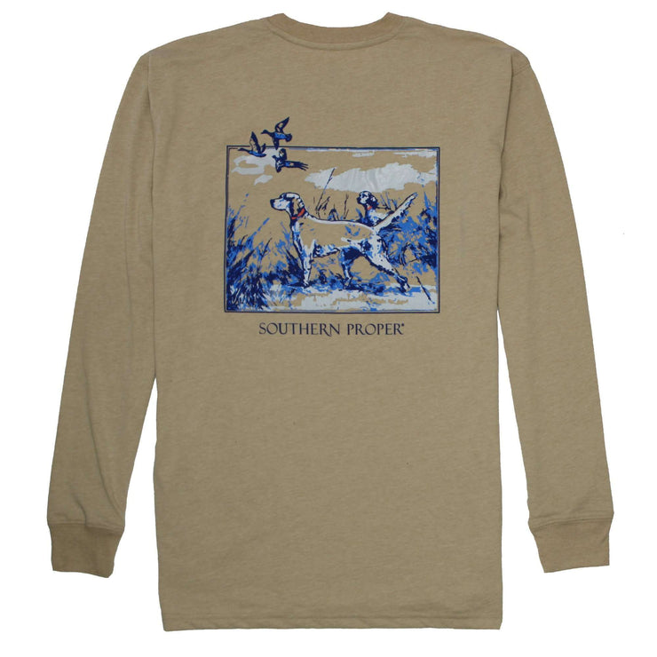 Southern Proper - Sporting Life Tee: Heather Dove