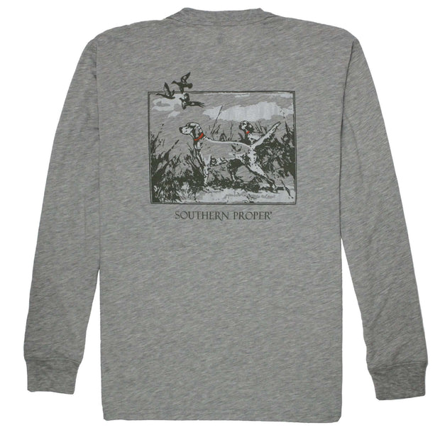 Southern Proper - Sporting Life Tee: Heather Grey