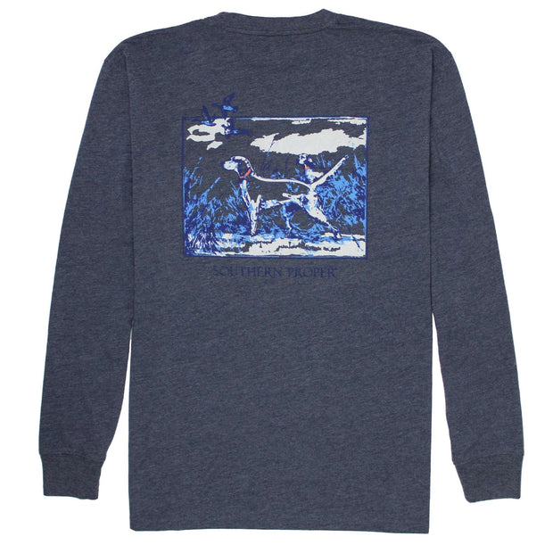 Southern Proper - Sporting Life Tee: Heather Proper Navy