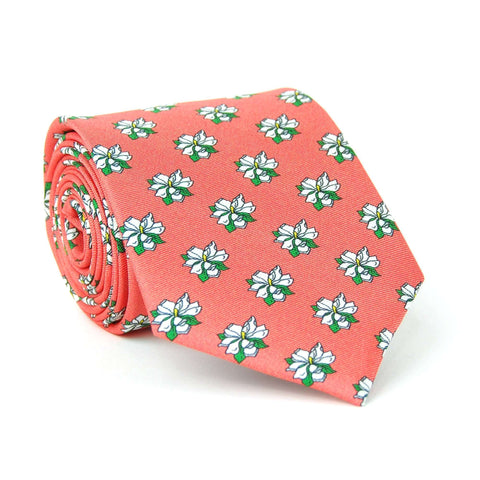 Southern Proper - Sweet Magnolia Tie: Coral