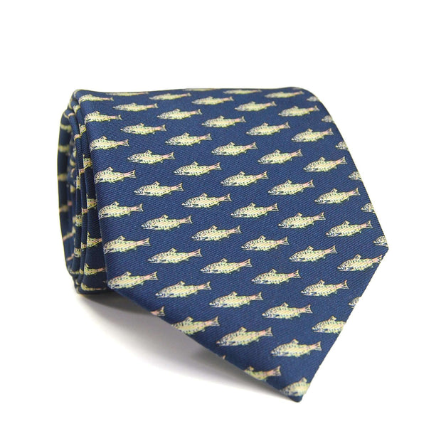 Southern Proper - Trout Tie: Navy