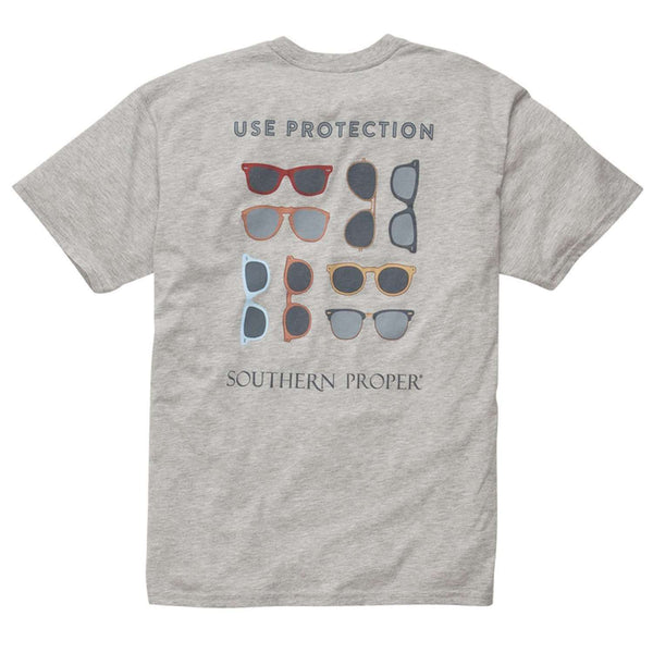 Southern Proper - Use Protection Tee: Grey