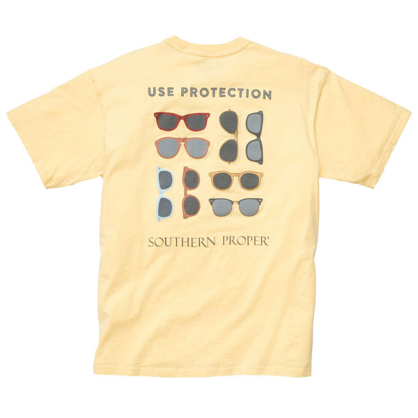 Southern Proper - Use Protection Tee: Yellow