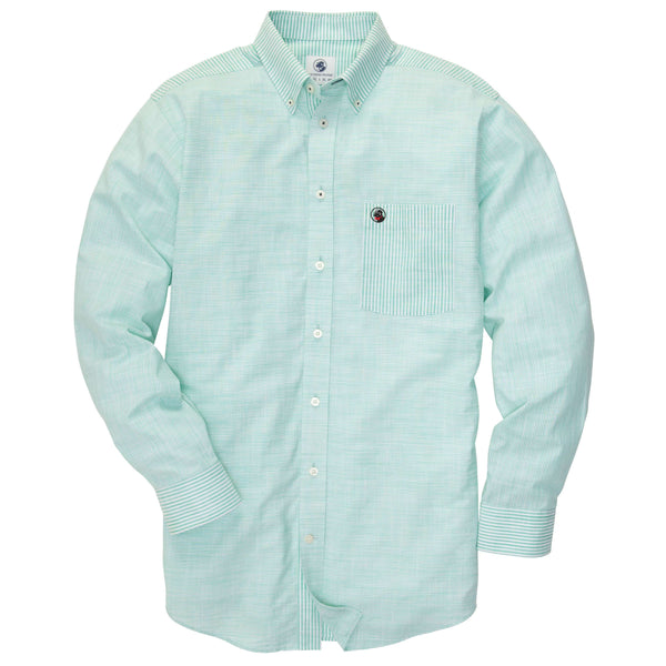 Southern Proper - Weekend Shirt - Country Club/White Stripe