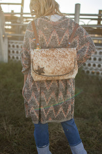 Special Ranger Pursepack - Tan Speckled Cowhide
