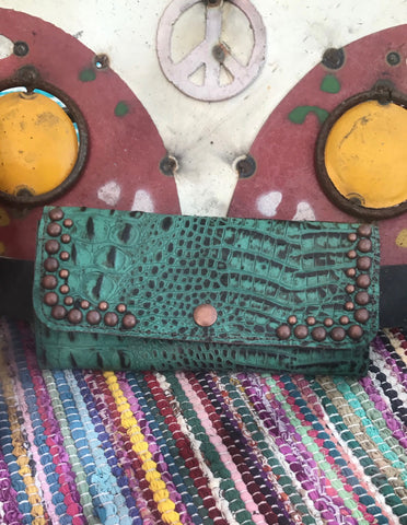 Copper Studded Wallet