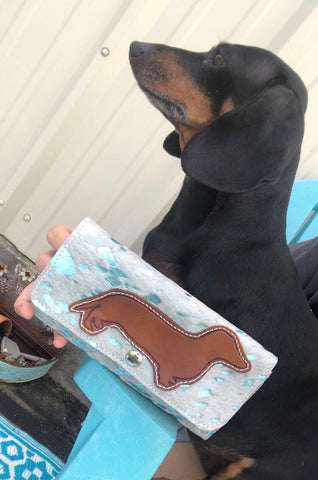 Dachshund Acid Wash Wallet