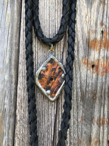 Vintage Belt Deerskin Necklace - Black