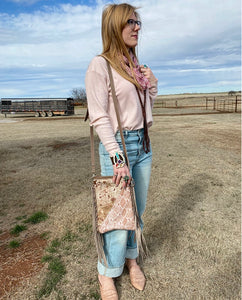 Half & Half Faded Pink Crossbody