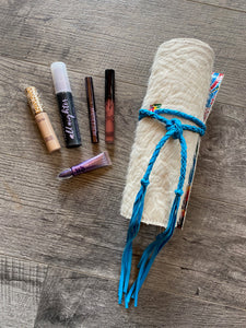Roll It on Up Makeup Bag - Turquoise Inside 2
