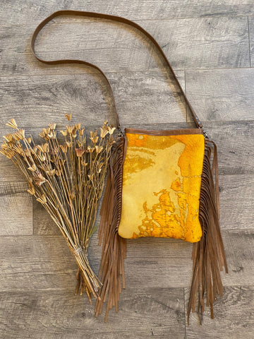 Mustard Acid Wash Crossbody