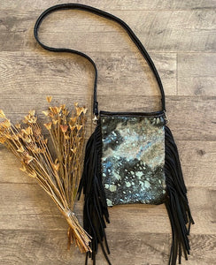 Black & Turquoise Acid Wash Crossbody