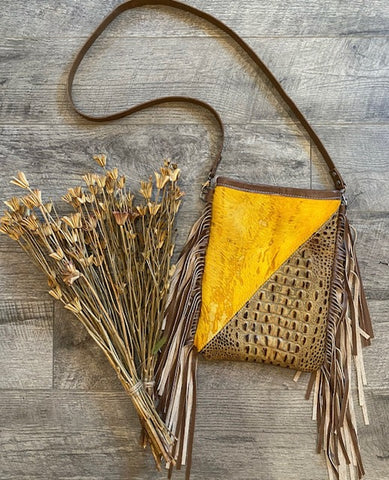 Rocky Mustard Divide Crossbody