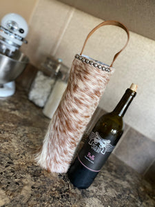 Brown & White Wine Bag