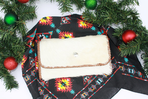 White Cowhide Wallet
