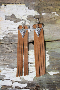 Cowskull Fringe Earrings