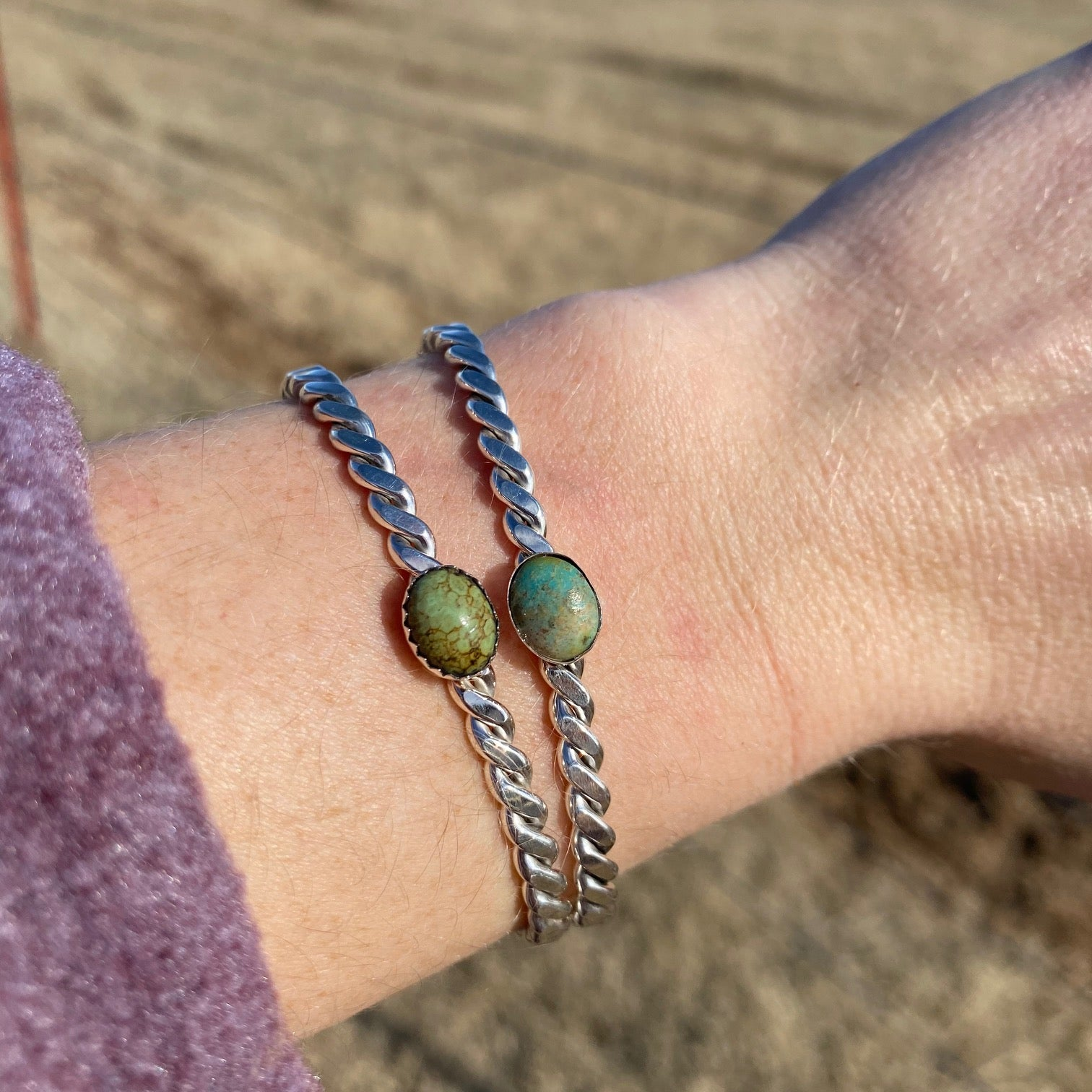 Twisted Turquoise Cuff