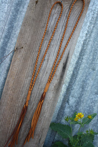 Saddle Tan Braided Necklace