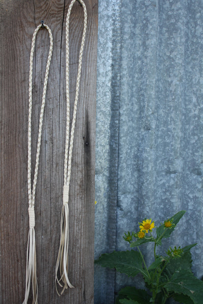 Buckskin Braided Leather Necklace