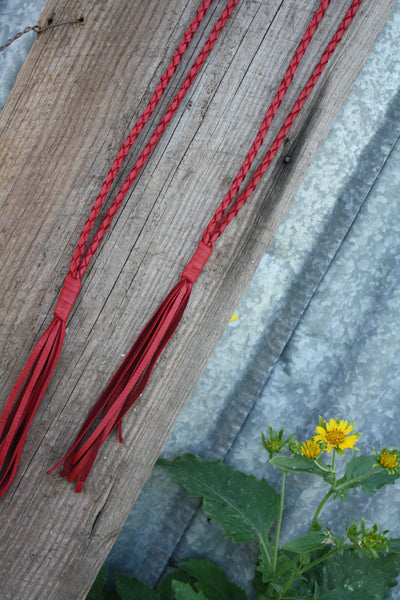 Red Braided Leather Necklace