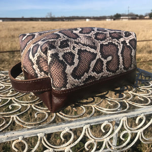 Snakeskin Makeup Bag - 2