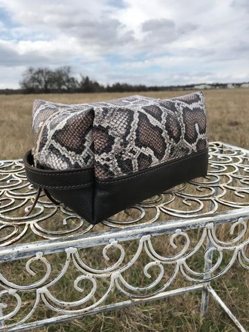 Snakeskin Makeup Bag