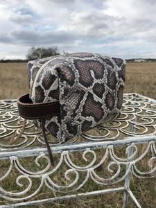 Snakeskin Mini Cosmetic Bag