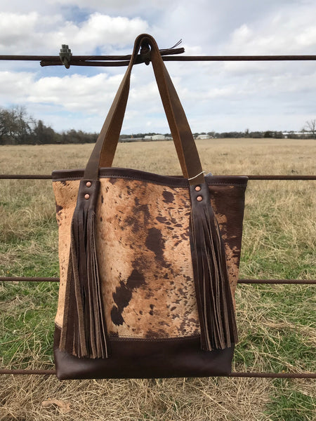 Brown Dusty Tall Tote Bag