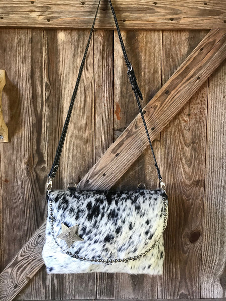 Special Rangers Pursepack - Black Speckled Cowhide