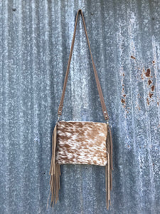 Brown Speckled Cowhide Crossbody