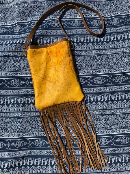 Sunflower Gold Single Fringe Crossbody