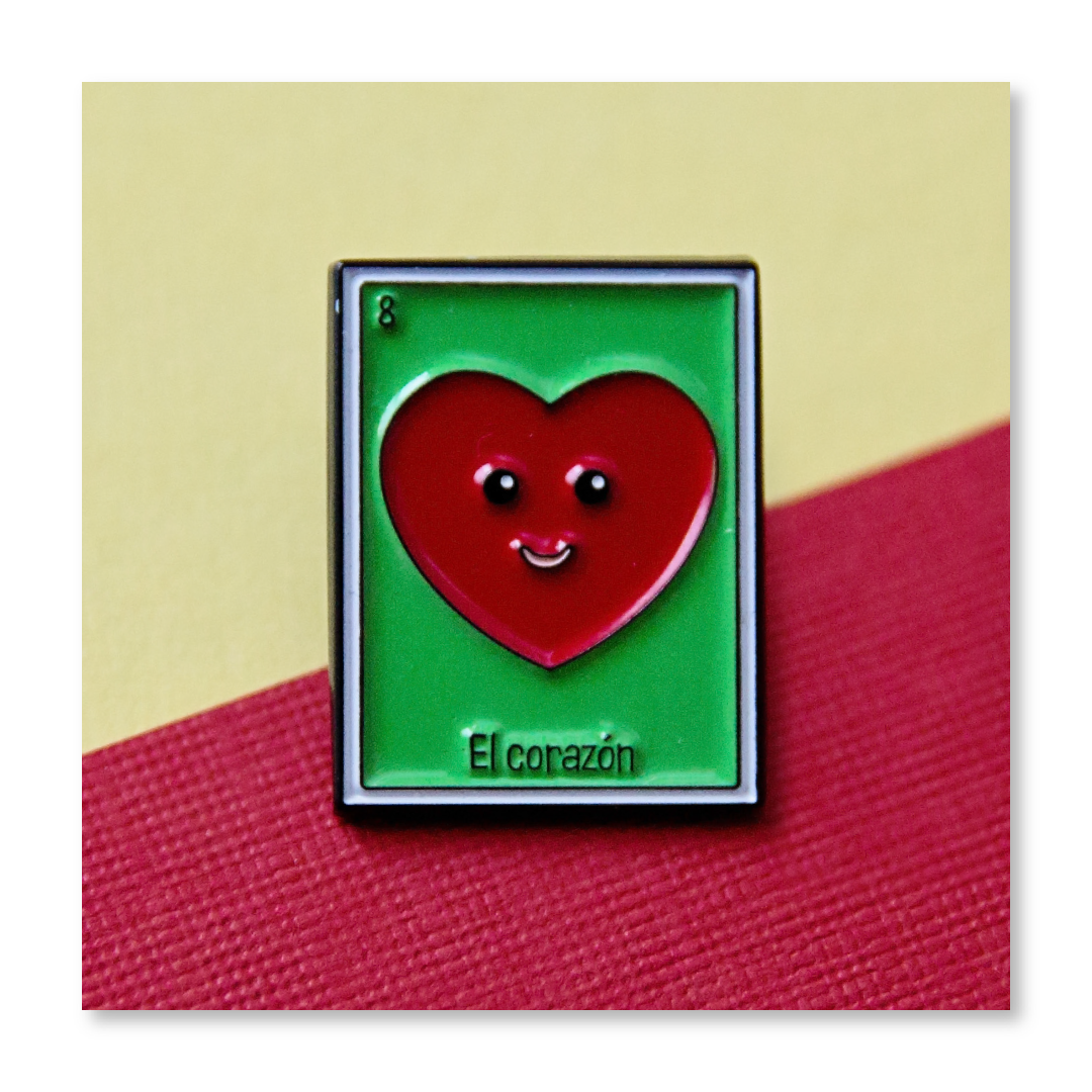 Loteria: Heart Lil' Pin