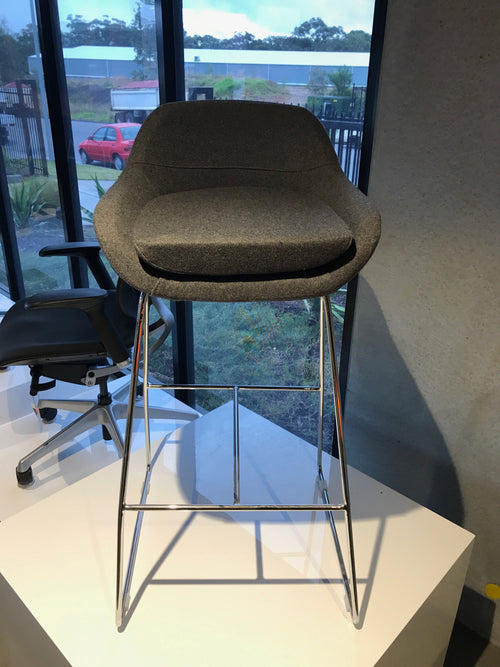 Christian Bar Stool Chair in Grey