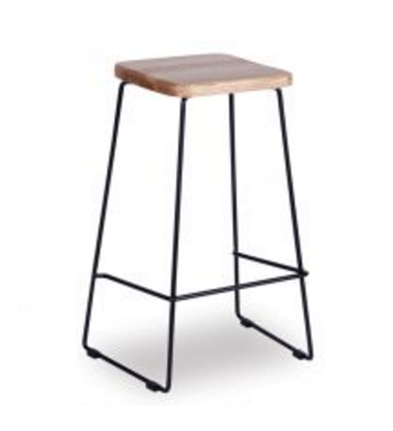 Hugo Bar Stool with American Ash Oak Seat