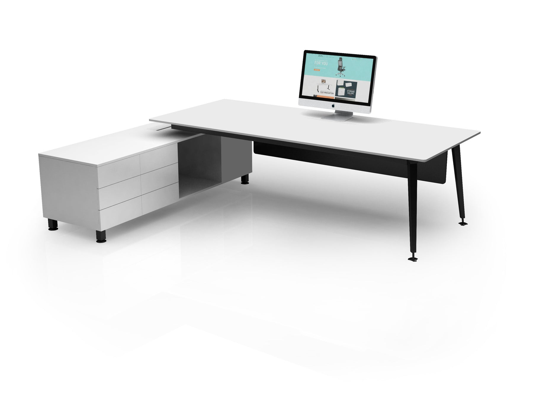 rta collections desks gry grey gray desk techni modern mobili storage with office