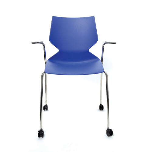 Fly 4 Leg Chair With Arms & Castors