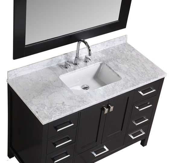 Design Element London 48 In. W X 22 In. D Vanity In Espresso With