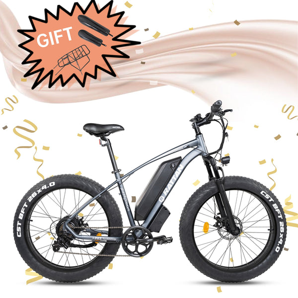 PATHFINDER - 750 Watts Fat Tire Aluminum Electric Bike in 2 Colors
