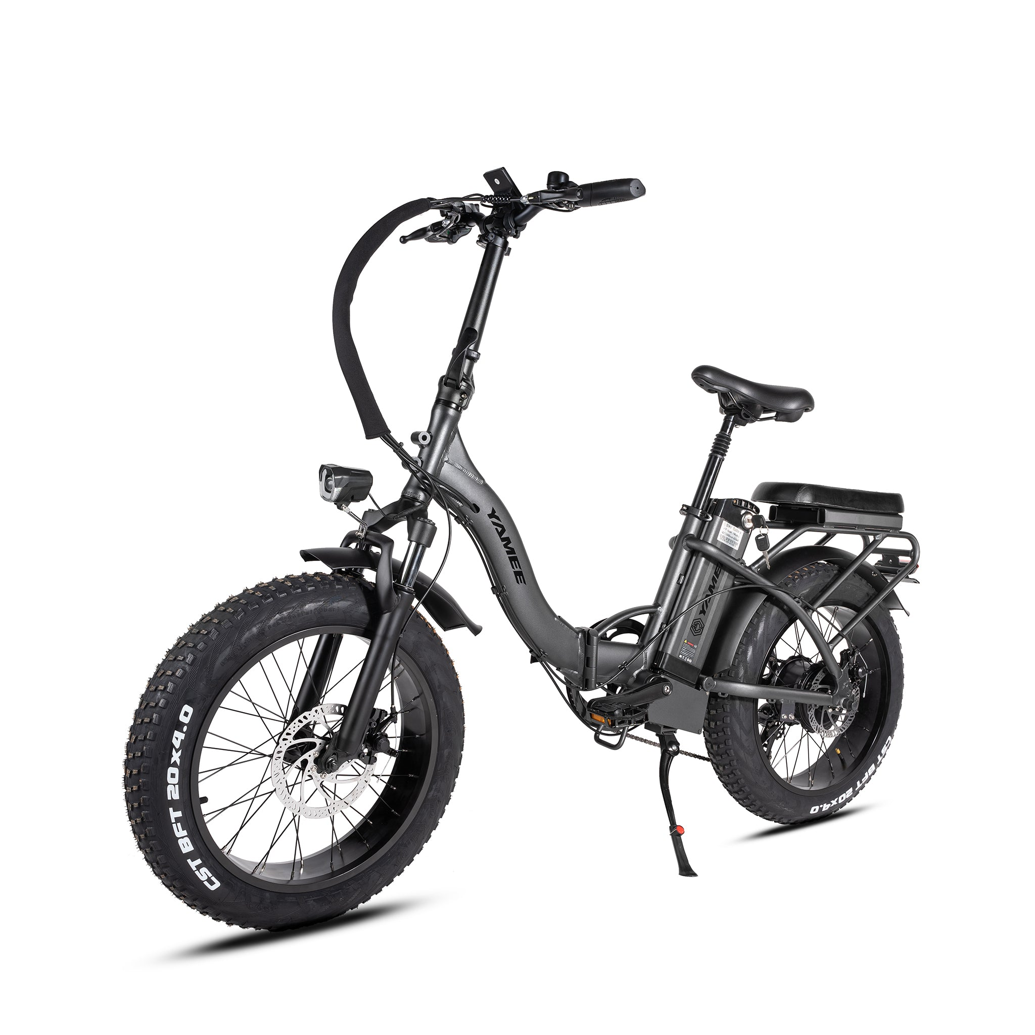LF-750 - 750 Watts Tandem Fat Tire Folding Aluminum Electric Bike in 3 Colors (Easy Step Through)