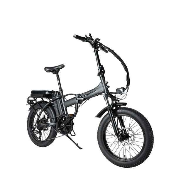 LM-500 - 500 Watts Tandem Fat Tire Folding Aluminum Electric Bike in 3 Colors